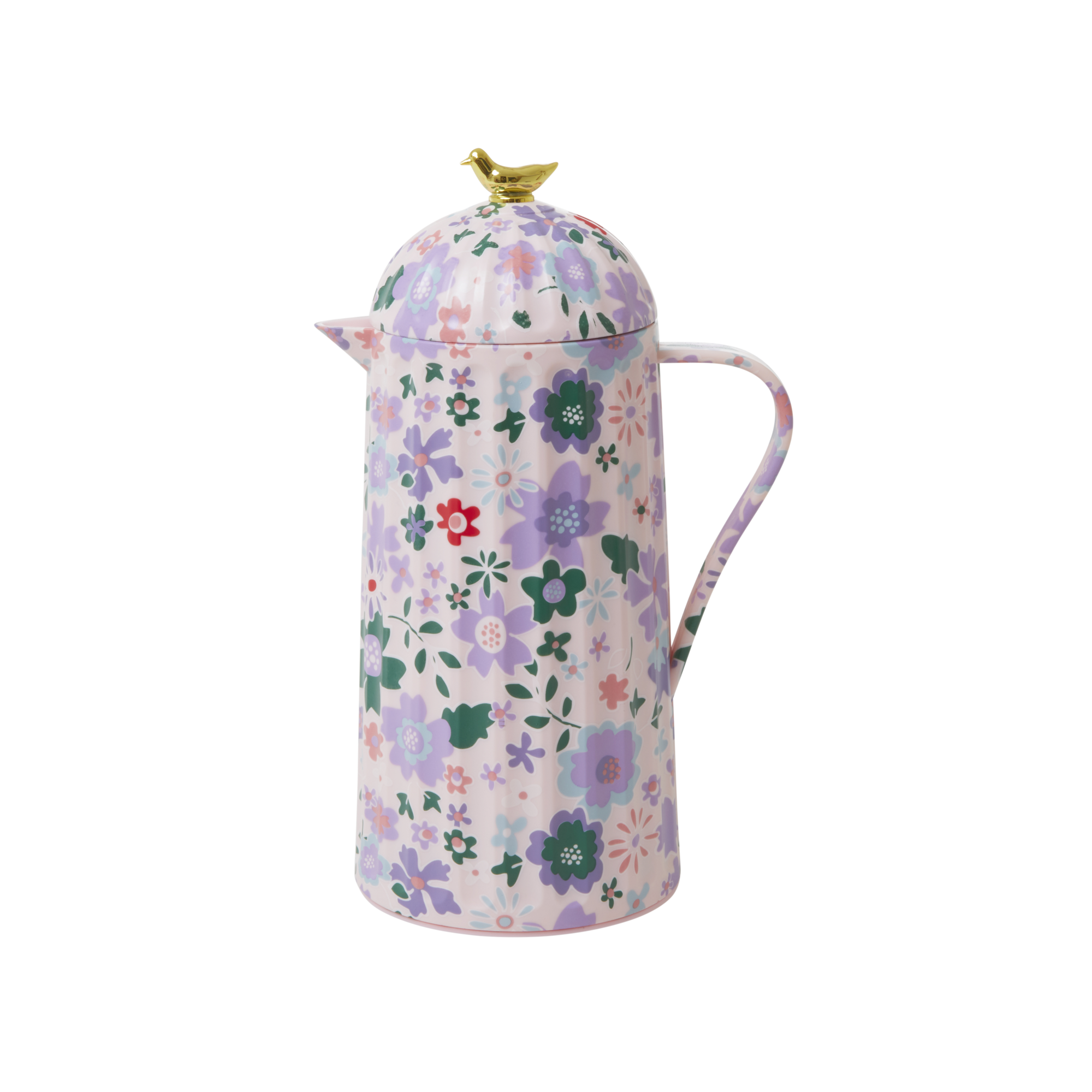 Rice - Thermo w. Gold Bird Lid - Pink Fall Floral Print