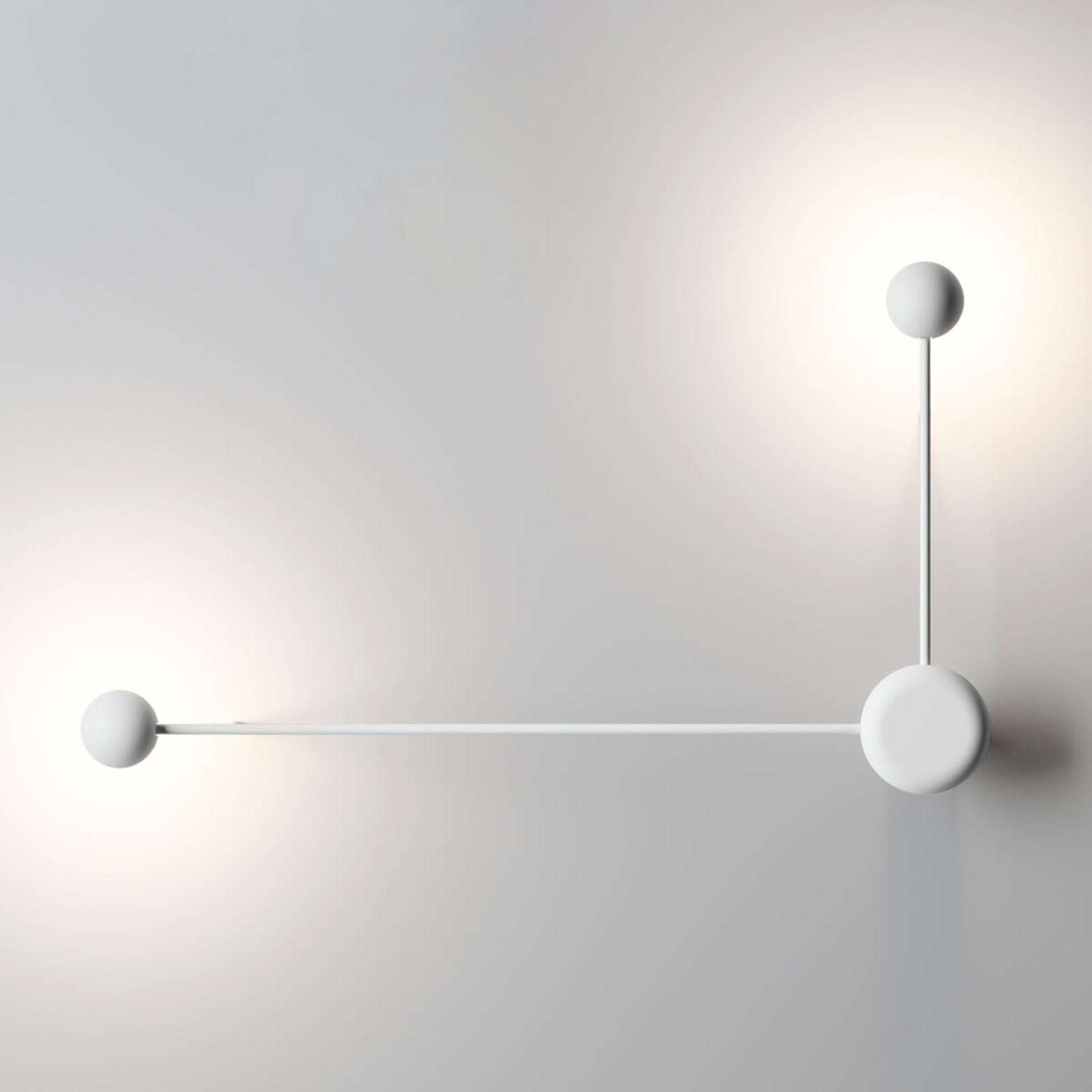 Designer-LED-seinävalo Pin valkoinen 2-lamppuinen