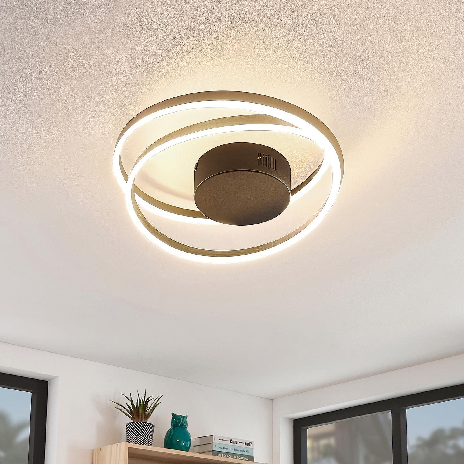 Lindby Davian LED-kattovalaisin, messinki