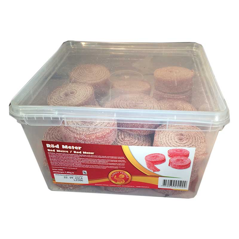 Godis hel låda - Röd Meter - 50% rabatt