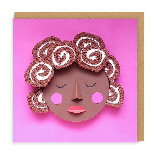 Swiss Roll Square Greeting Card