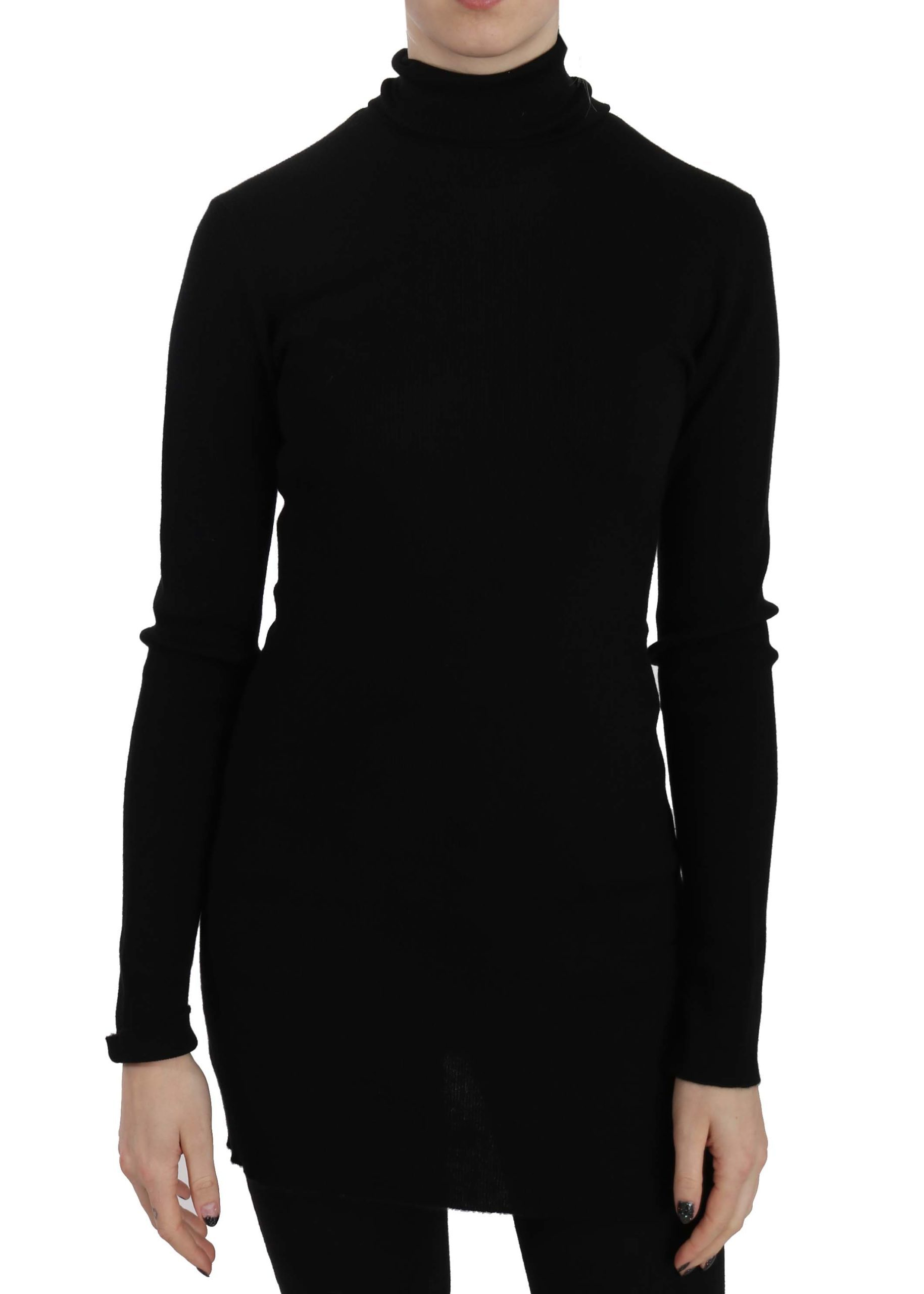 Dolce & Gabbana Women's Turtleneck Cashmere Pullover Sweater Black TSH3261 - IT38|XS