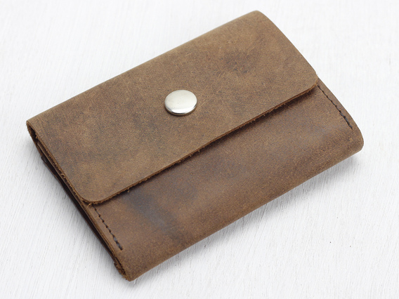 Brown Leather Wallet – Mini Small