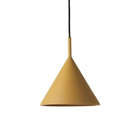 metal triangle pendant lamp M matt ochre