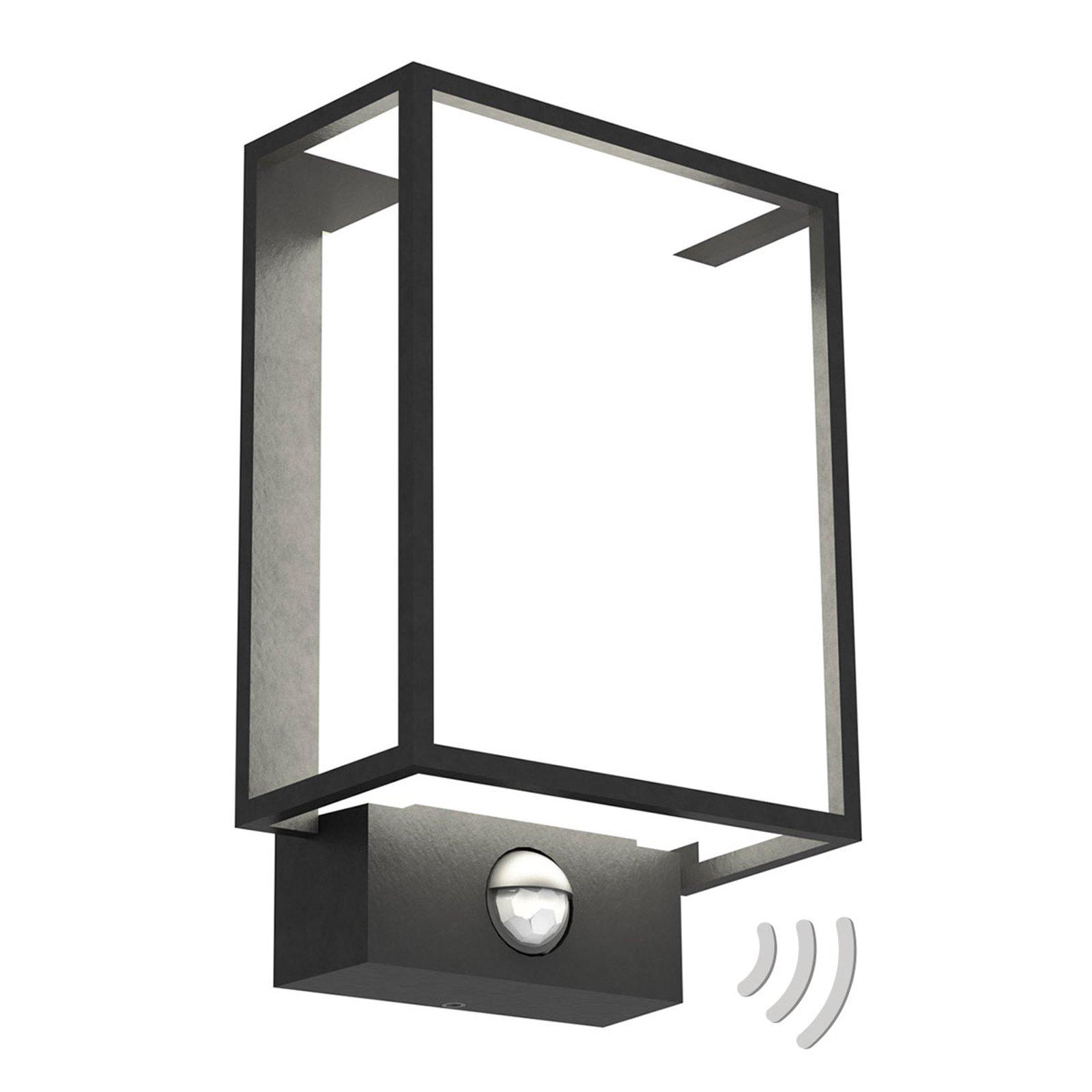 Utendørs LED-vegglampe Nestor med bevegelsessensor