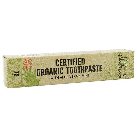 Suztain Ekologisk Fluortandkräm med Aloe Vera & Mint, 75 ml