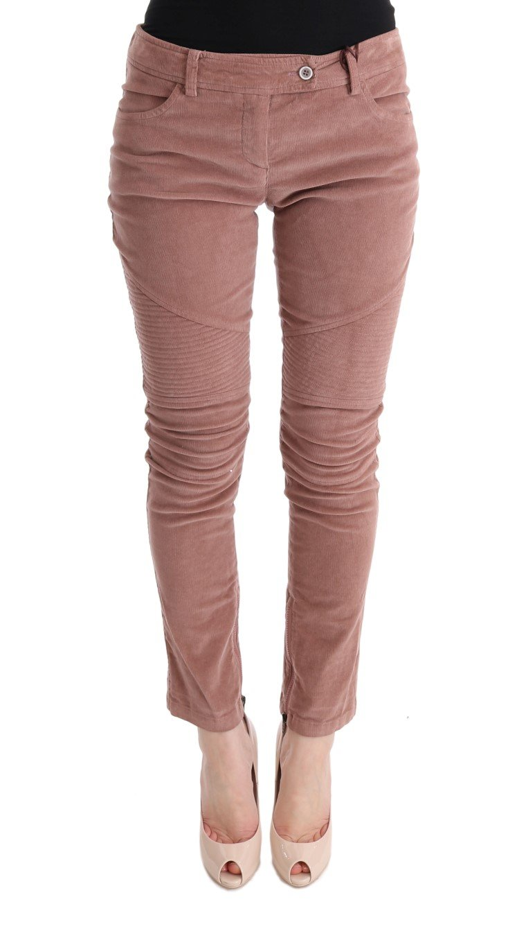 Ermanno Scervino Women's Cropped Trouser Pink SIG30314 - IT44|L