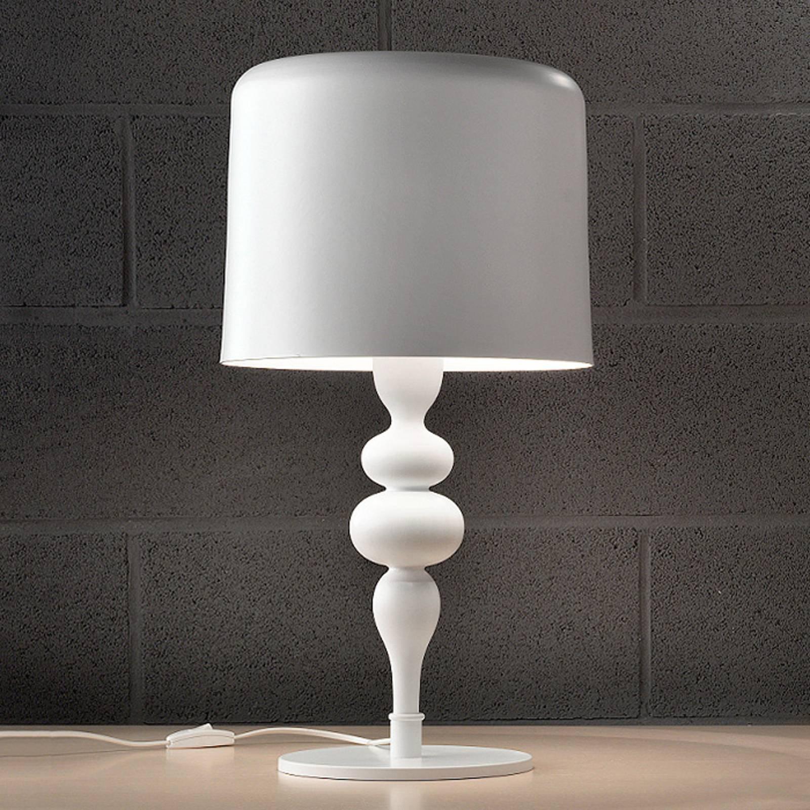 Bordlampe Eva TL3 + 1G 75 cm, hvit