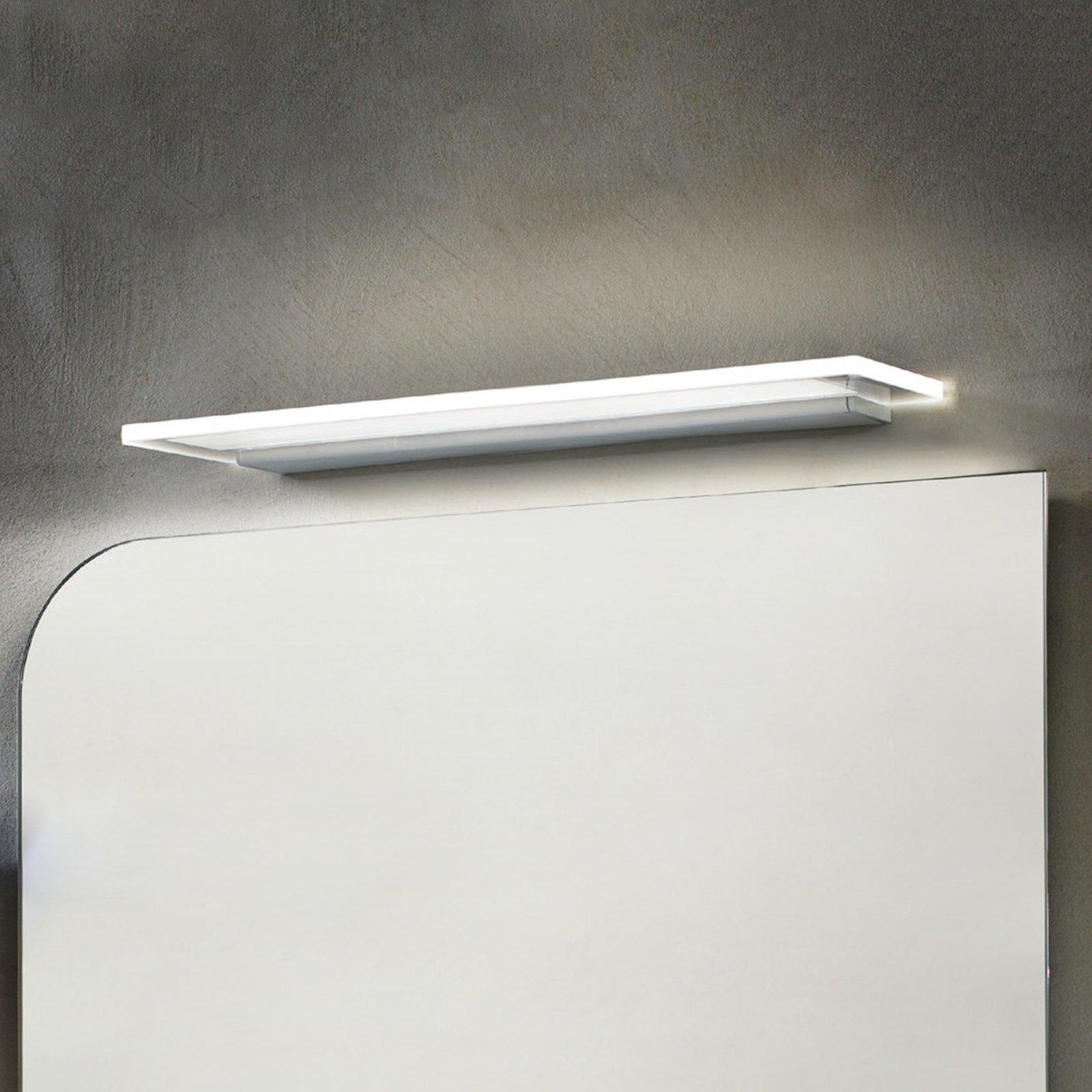Skinny LED-vegglampe med IP44 blank i alu