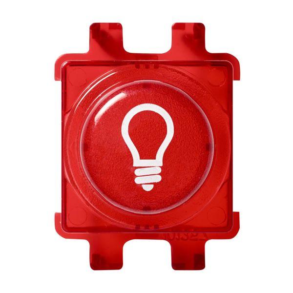 Schneider Electric WDE011525 Painonappi Punainen Lamppusymbolilla