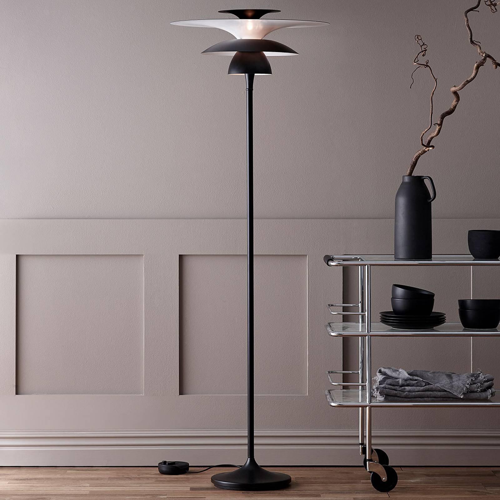 Picasso LED-gulvlampe, skjerm 38 cm, svart