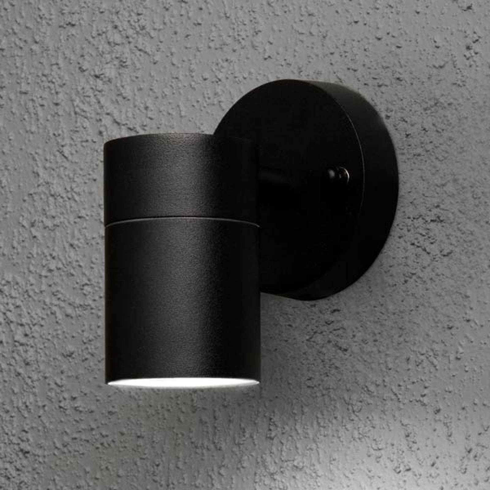 Utendørs vegglampe Modena 1 lyskilde svart