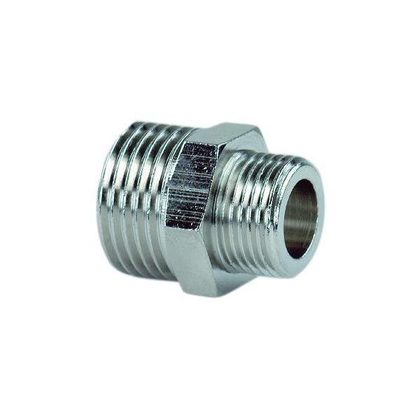 Ezze 3006069122 Sekskantnippel metall, utv gjenge G15 x G10