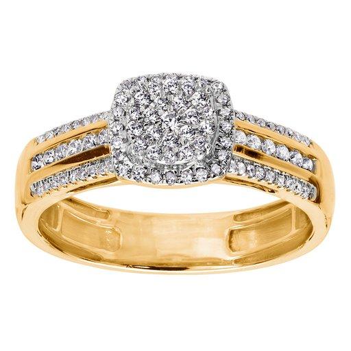 Diamantring i 18K guld, 18.5