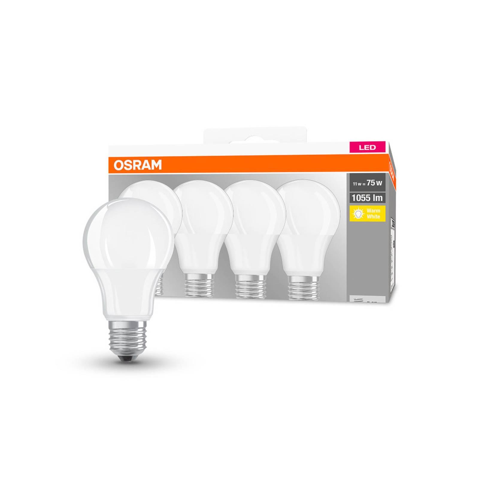 OSRAM-LED-lamppu Classic E27 10W 2700K 1055lm 4kpl