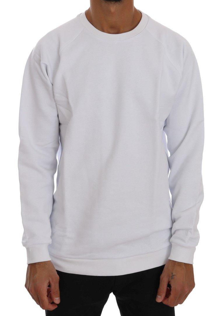 Daniele Alessandrini Men's Crewneck Cotton Sweater White TSH1343 - M