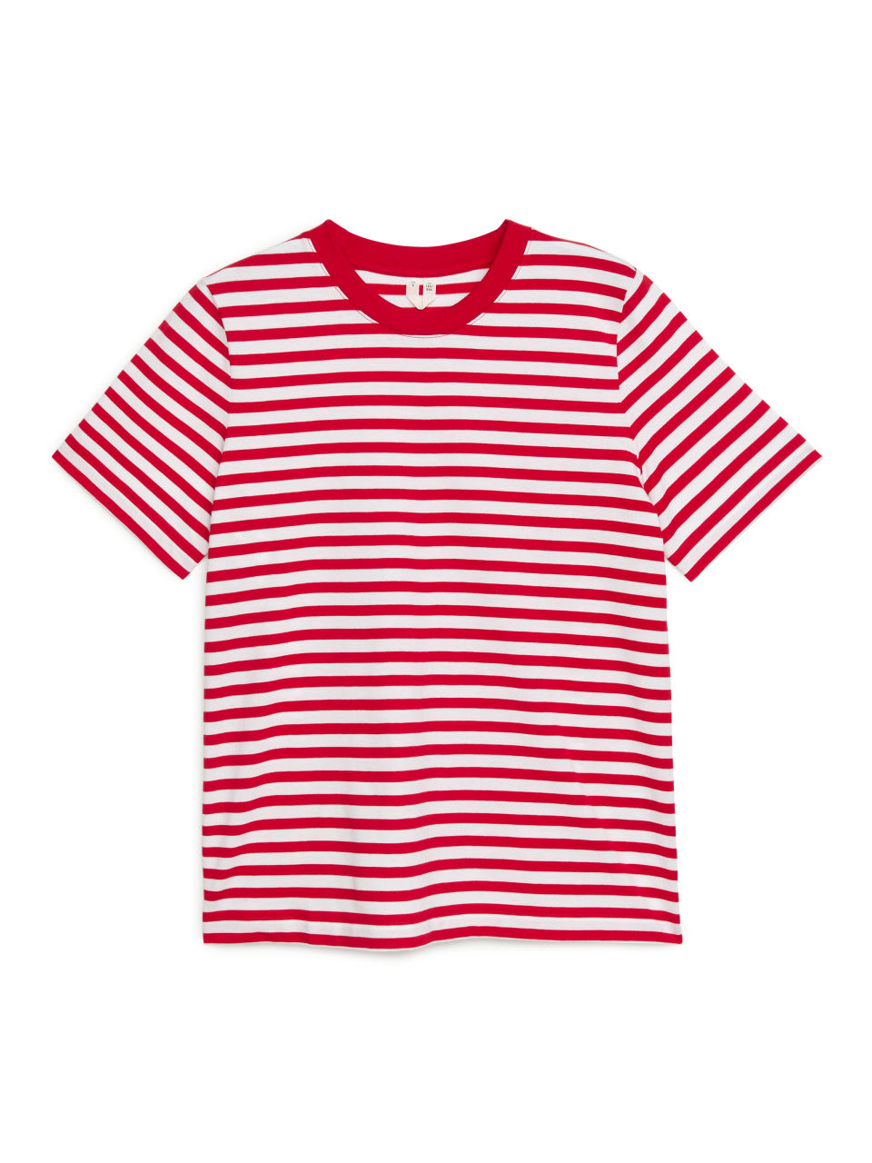 Crew-Neck Striped T-shirt - Red