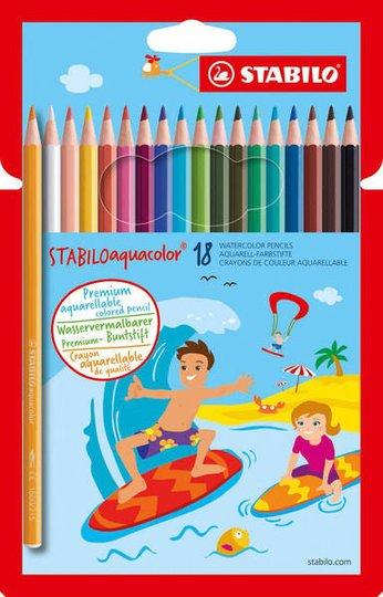 STABILO Akvarellpenner 18-pack