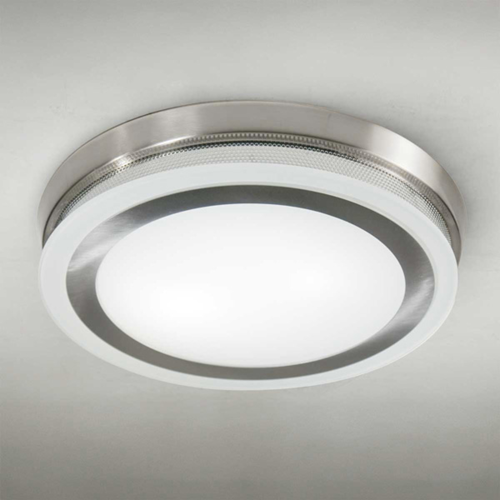 Pyöreä kattovalaisin Ring 9115 51 cm kromi