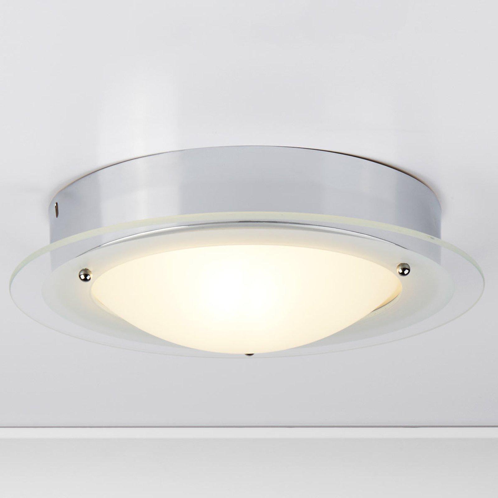 JUNA - taklampe til badet med glasskant