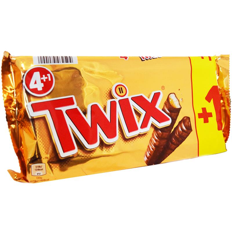 Twix 5-pack 5 x 50g - 37% rabatt