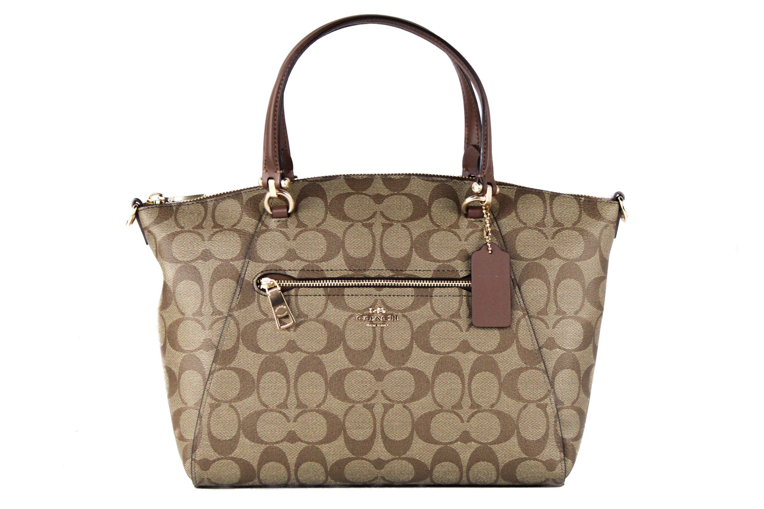 COACH Women's Prairie Satchel Bag Khaki 502557