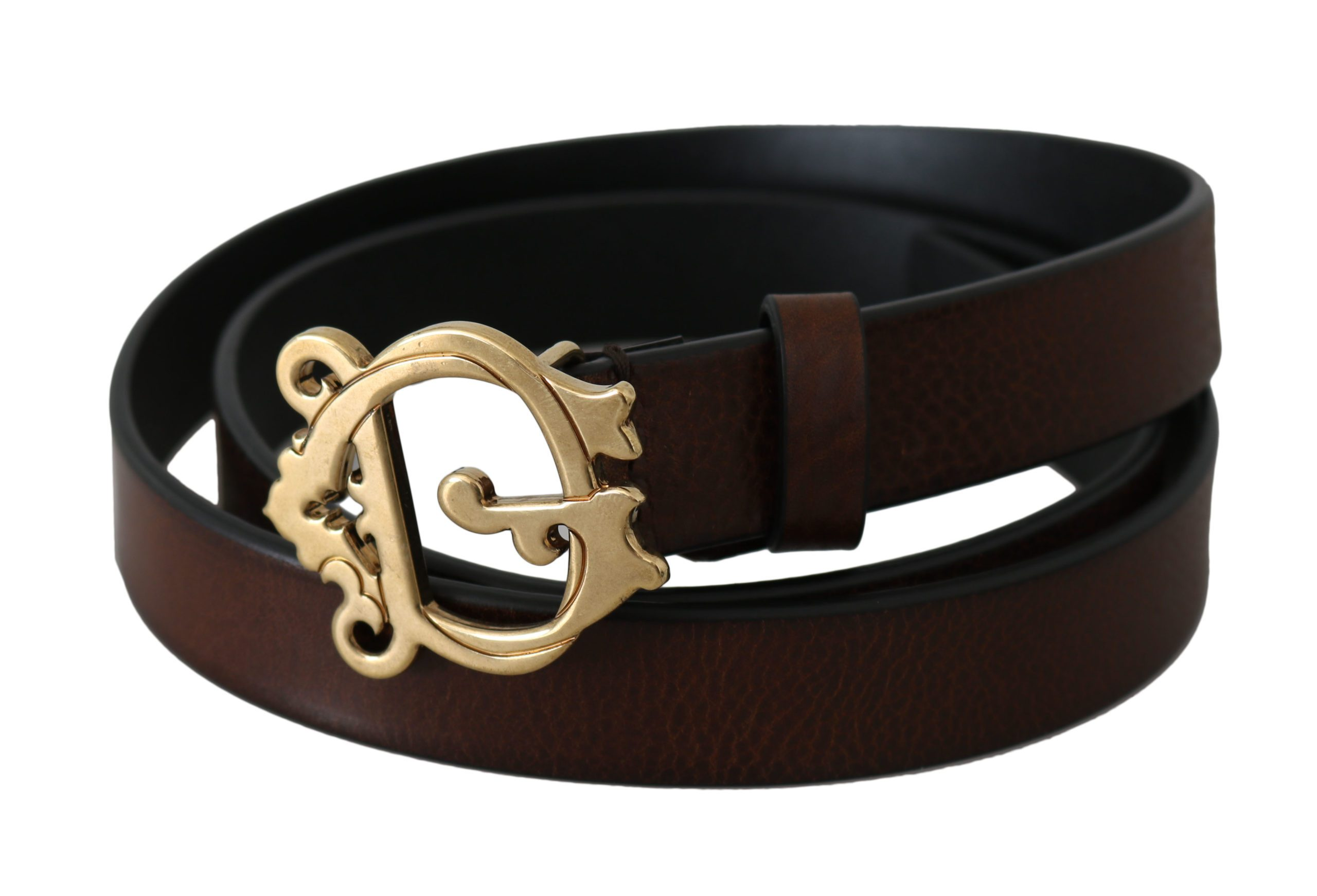 Dolce & Gabbana Women's Leather Buckle Belt Brown BEL60817 - 90 cm / 36 Inches