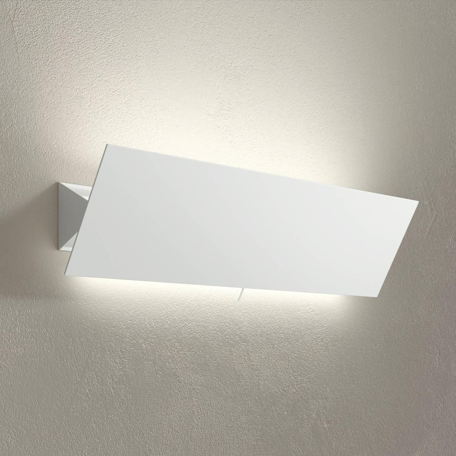 LED-vegglampe Shadow Grande, hvit, bredde 63 cm