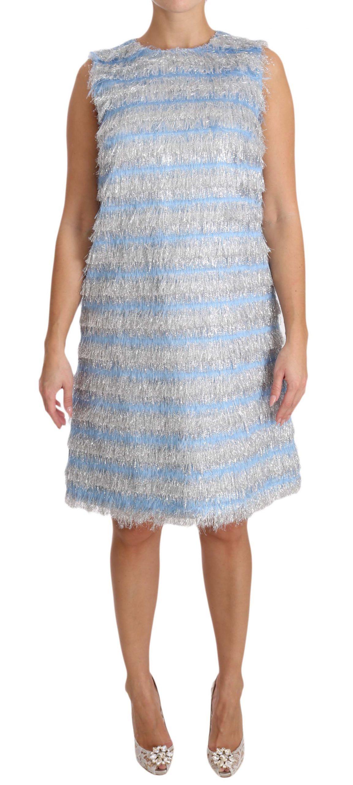 Dolce & Gabbana Women's Shift Gown Dress Light Blue DR1604 - IT38|XS