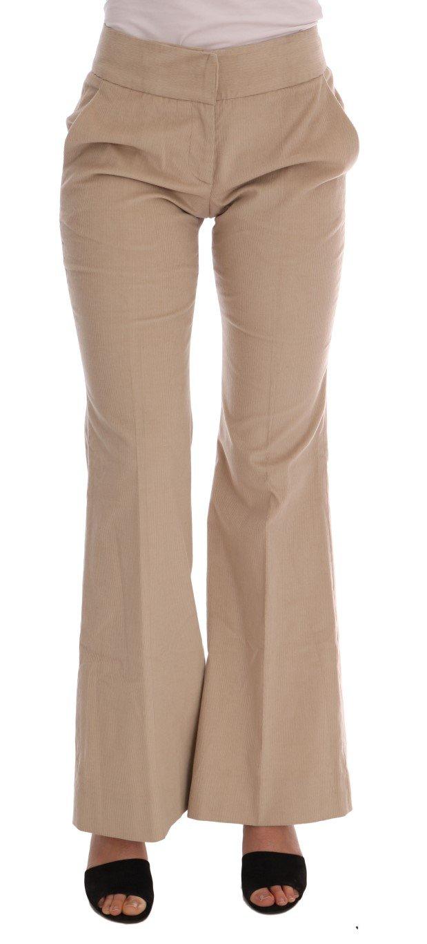 Ermanno Scervino Women's Boot Cut Trouser Beige BYX1166 - IT38|XS
