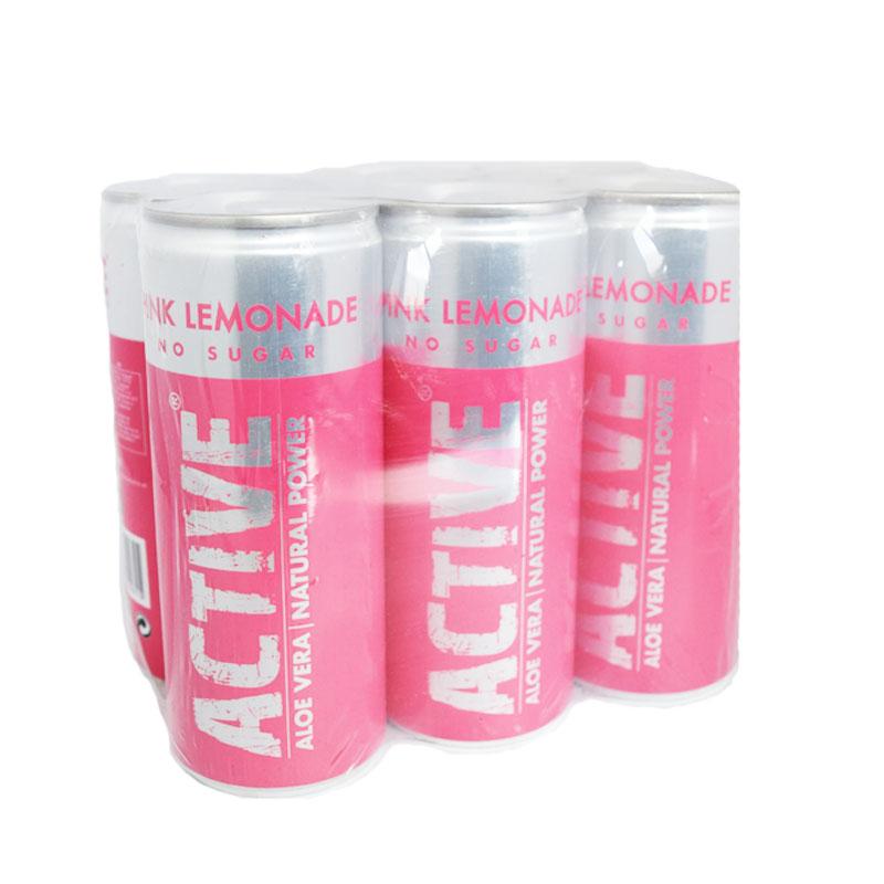 "Hel Låda Aloe Vera ""Pink Lemonade"" 6 x 250ml - 76% rabatt"