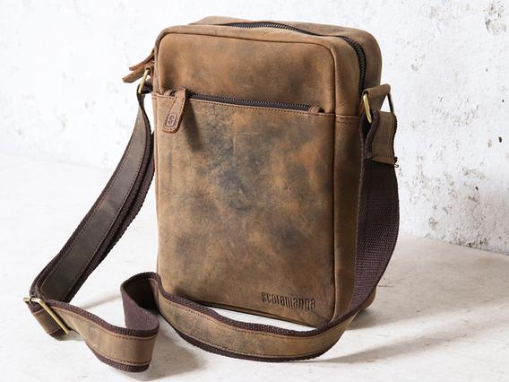 Mens Crossbody Leather Bag 10 Inch