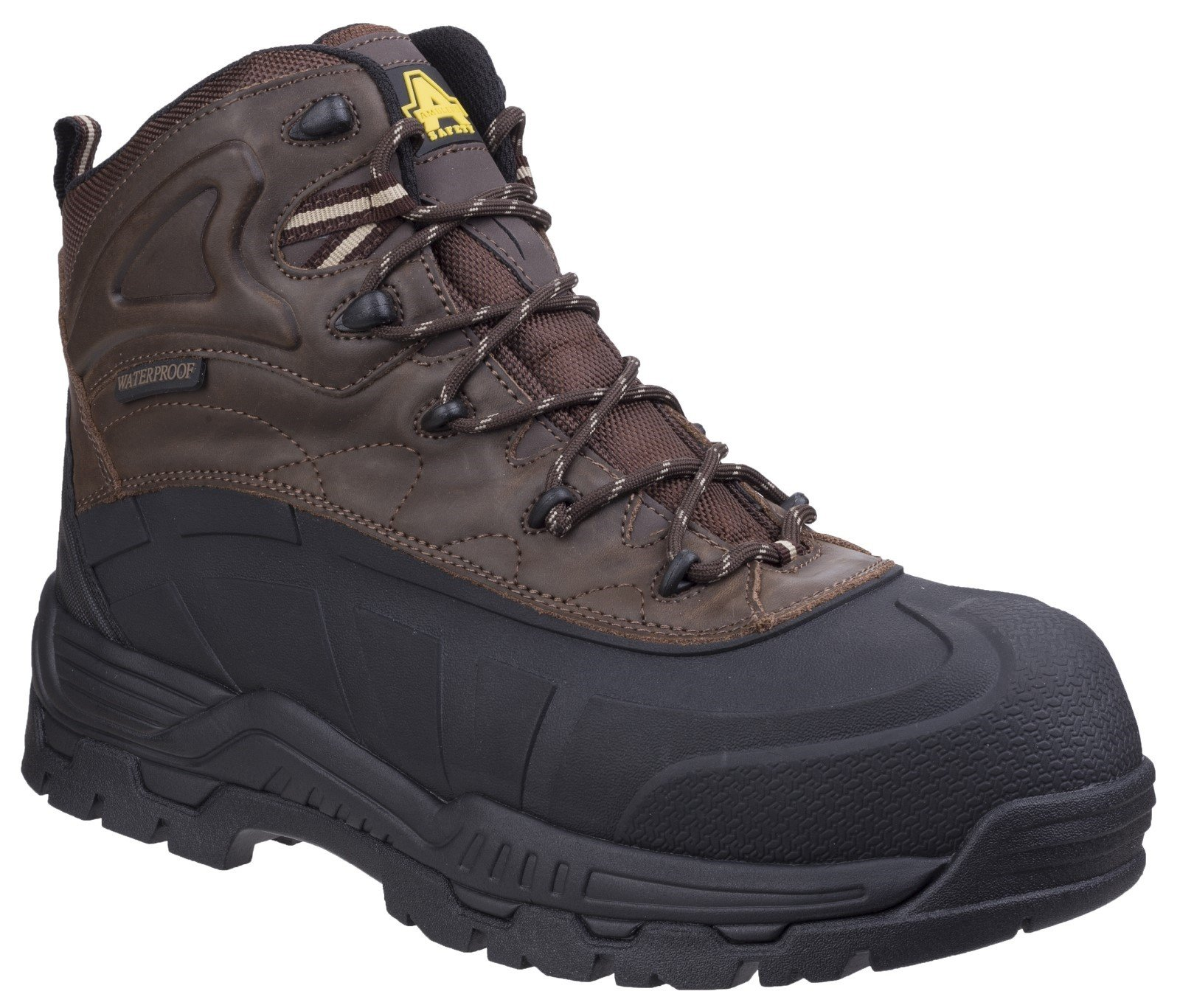 Amblers Unisex Safety Orca Safety Boot Brown 25156 - Brown 4