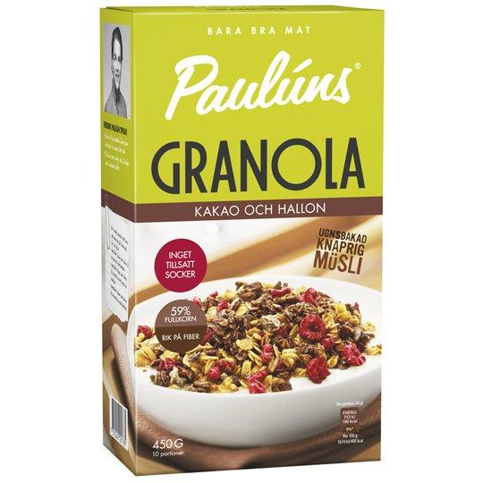 Granola Kakao & Hallon 450g - 27% rabatt