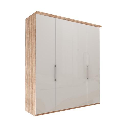 Garderobe Atlanta - Lys rustikk eik 200 cm, 236 cm, Med gesims