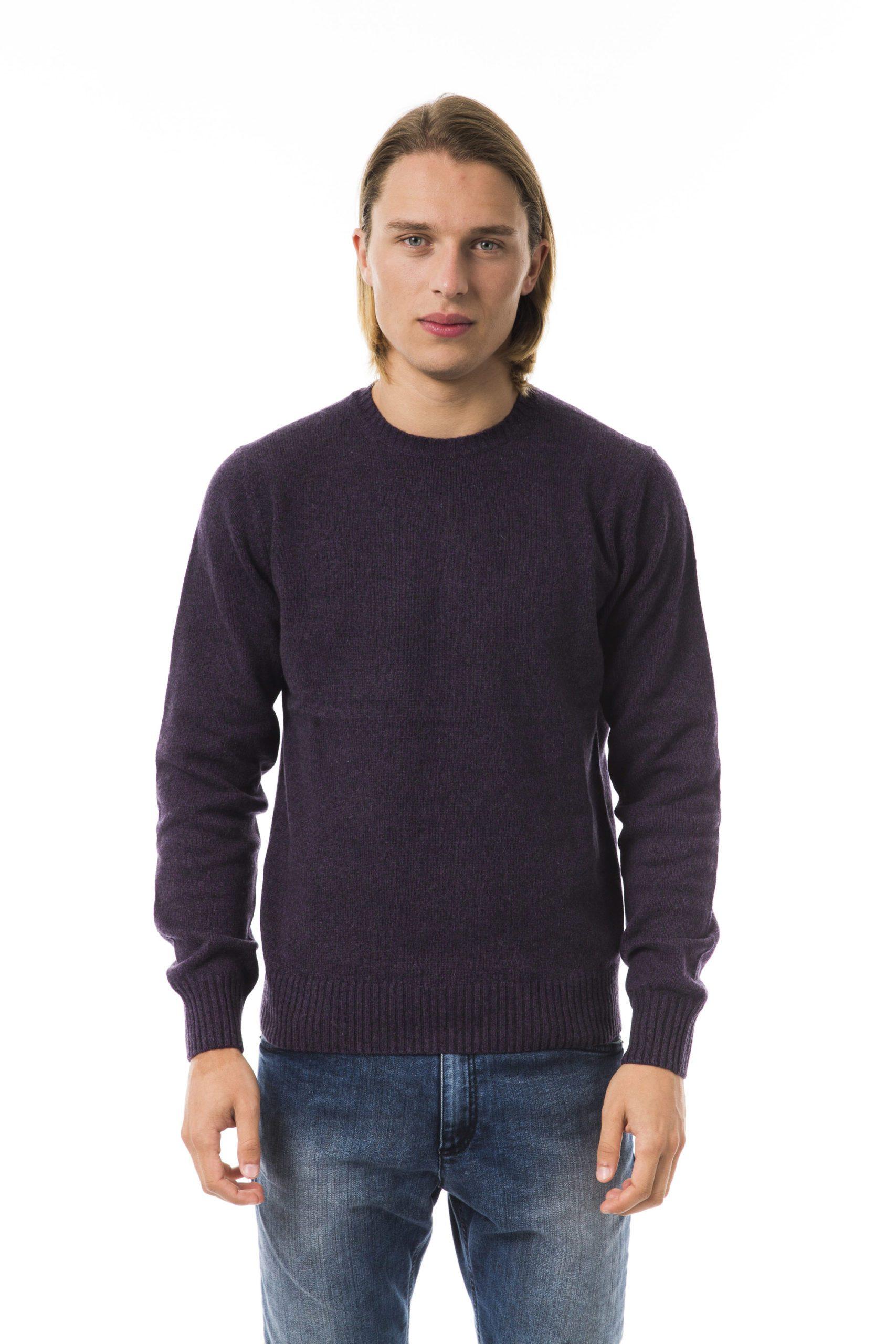 Uominitaliani Men's Sweater Viola Sweater Violet UO816428 - L