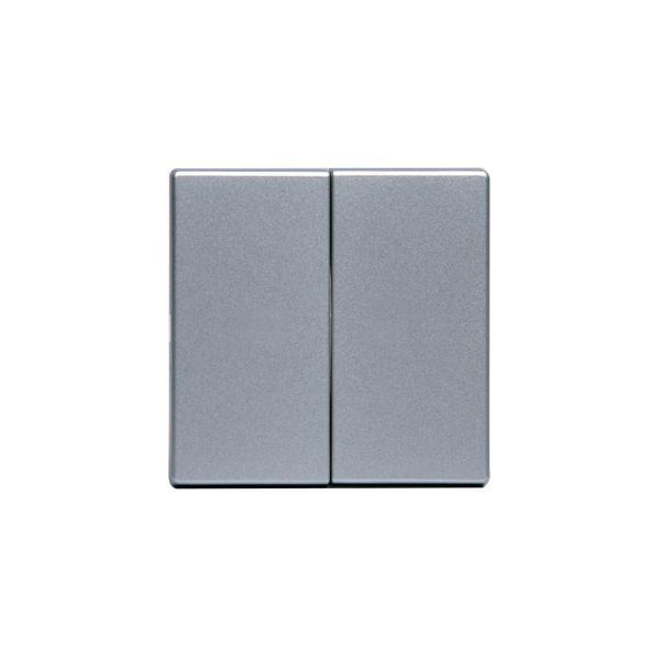ABB 1785-83 Dobbelvipper for krone og dobbeltrapp Aluminium