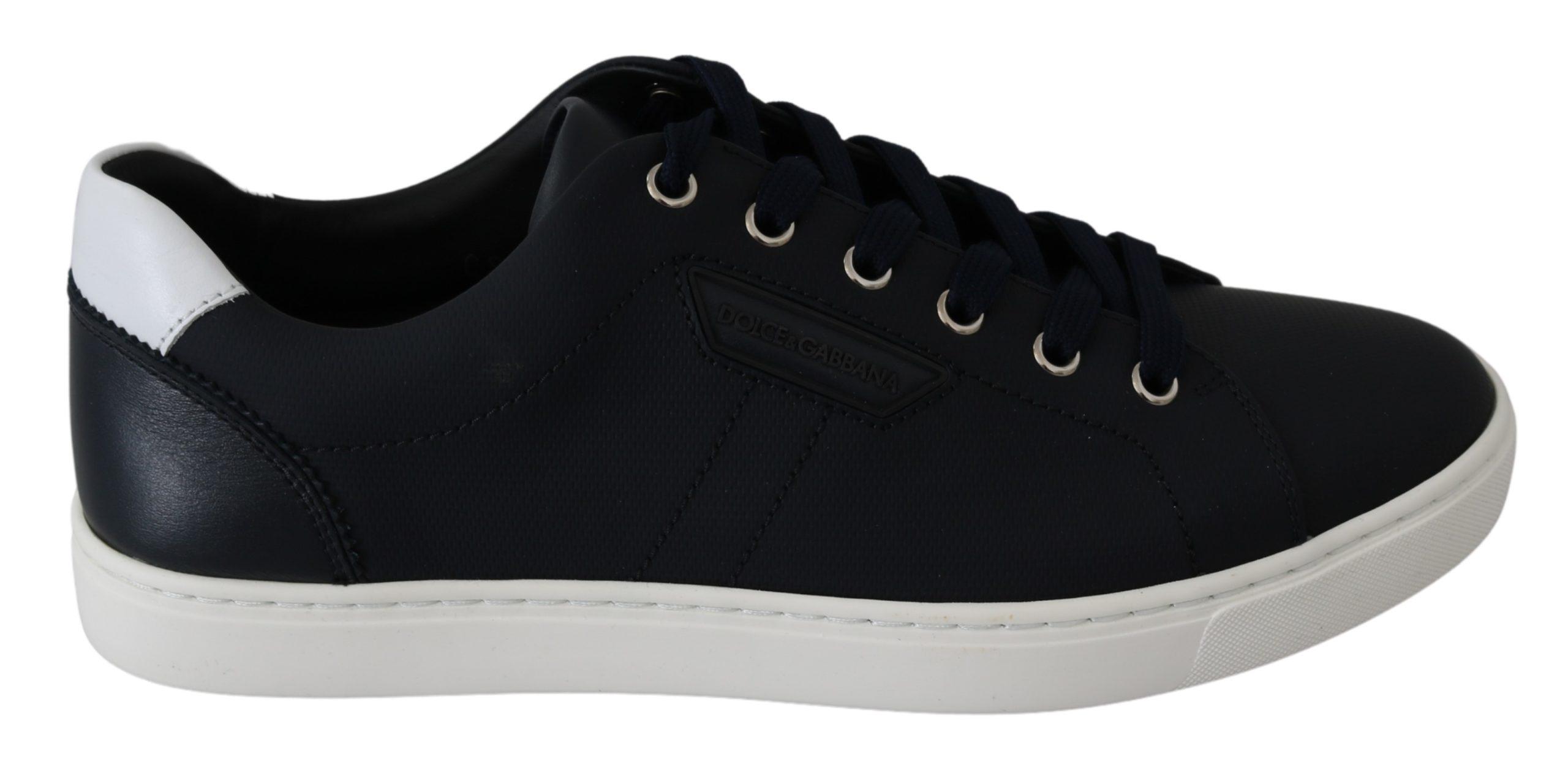 Dolce & Gabbana Men's Leather DG Logo Shoes Trainer Blue MV2655 - EU40.5/US7.5