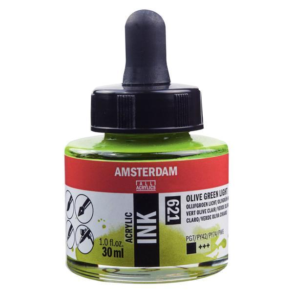 Acrylic Ink Bottle Olive Green Light 30ml