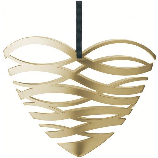 Stelton Tangle julornament hjärta, stor - mässing