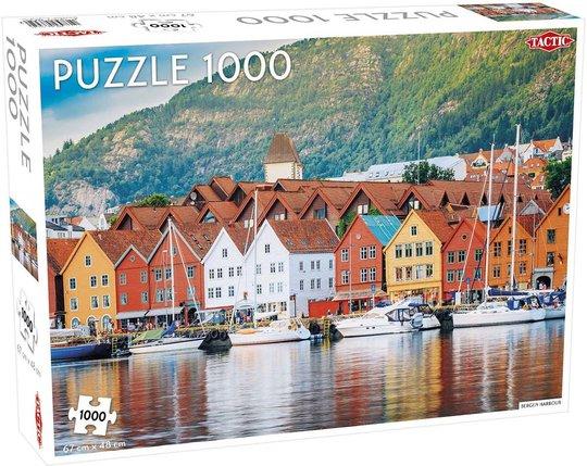 Tactic Puslespill Bergen Harbour 1000 brikker