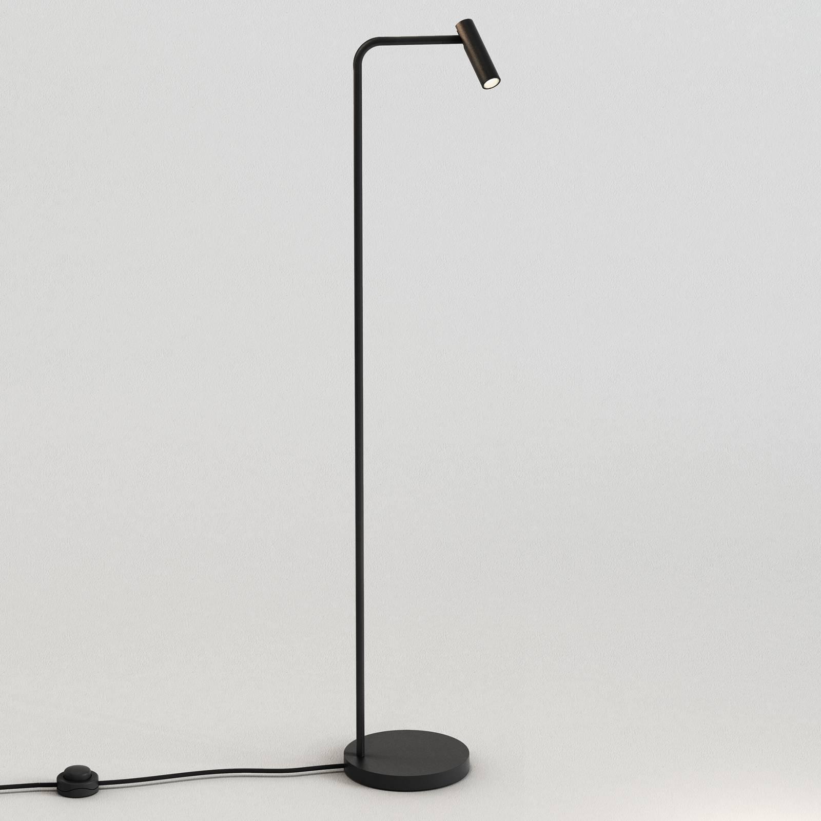 Astro Enna -LED-lattiavalaisin, mattamusta