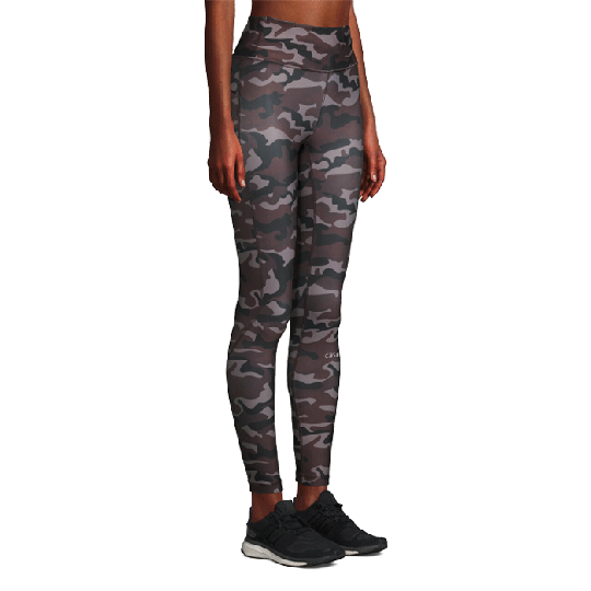 Printed Sport Tights, Grey Paint