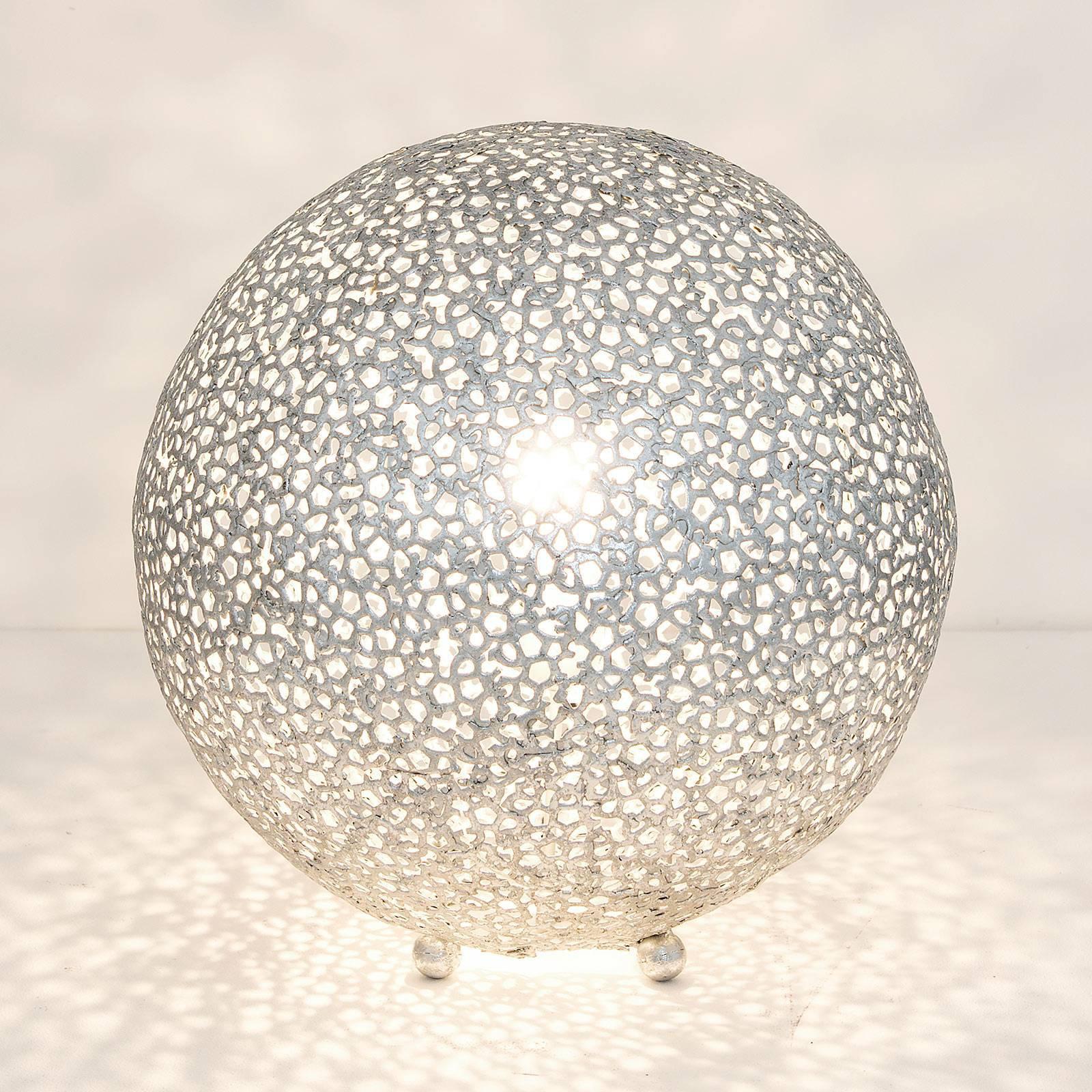 Bordlampe Lily Grande, Ø 43 cm, sølv