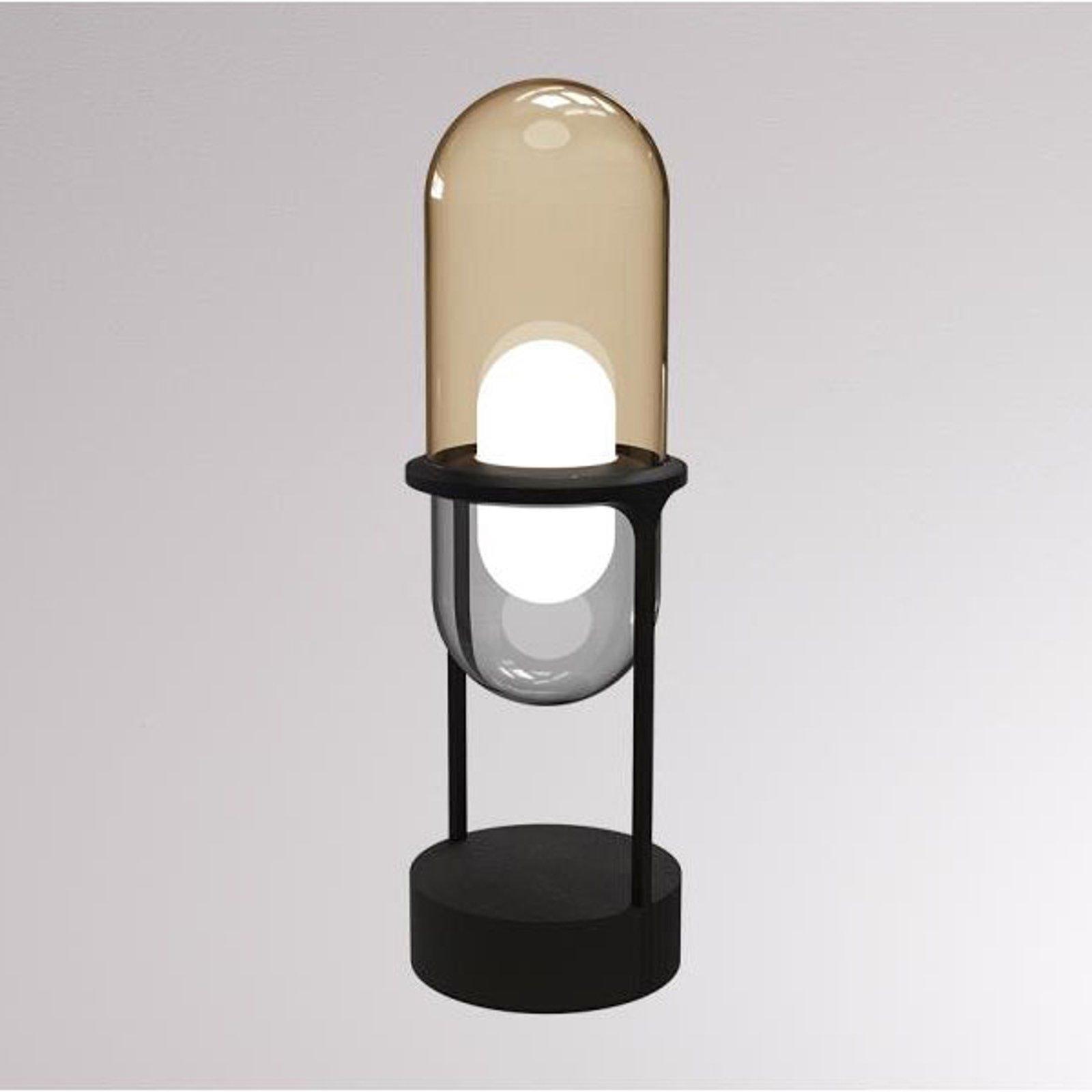 LOUM Pille LED-bordlampe champagne/grå