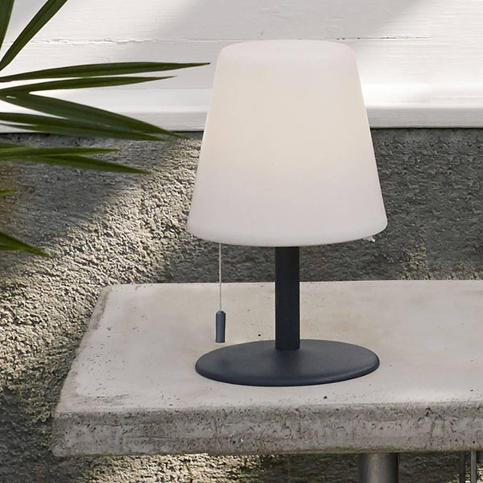 Gardenlight Kreta -LED-pöytävalaisin, akku, 26,5cm