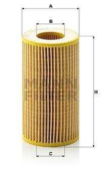 Öljynsuodatin MANN-FILTER HU 718/1 k