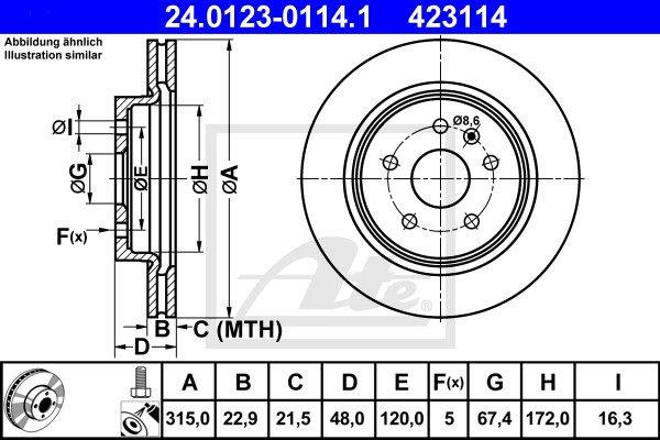 Jarrulevy ATE 24.0123-0114.1