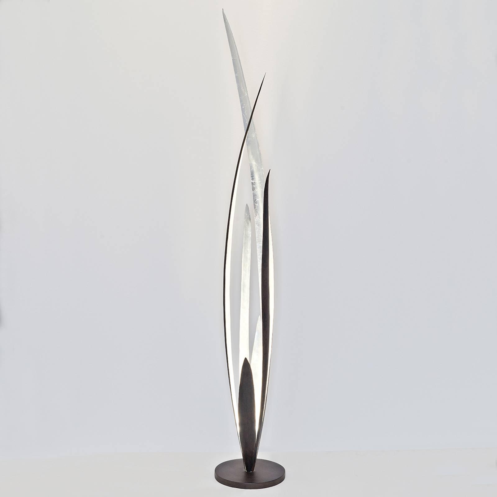 Palustre-lattiavalo, musta-ruskea-hopea