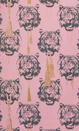 Coco tiger tapet 10 m - Pink